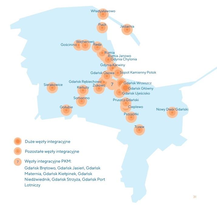 Mapa węzłów integracyjnych